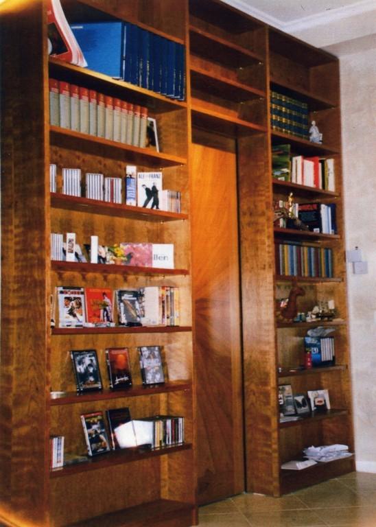 Top libreria in ciliegio con porta scorrevole raggiata a - Libreria con porta ...